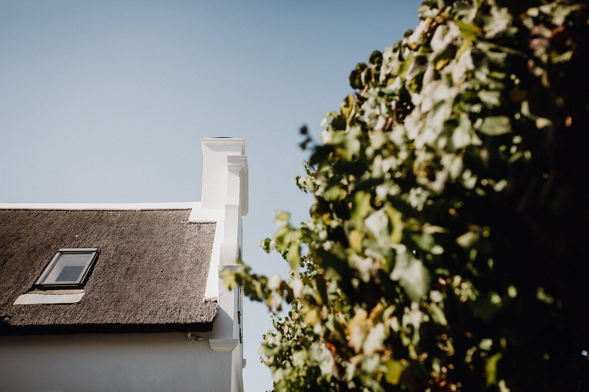 Reetdachhaus in Südafrika